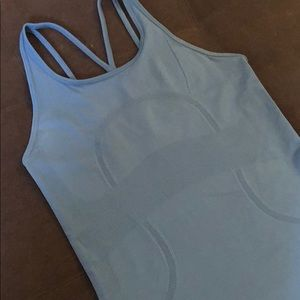 Lululemon Swiftly Tech Strappy Tank sz 6 blue